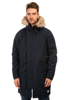 Penfield Paxton Long Insulated Snorkle Jacket Navy