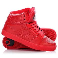 Кеды кроссовки высокие Osiris Nyc Vulc Red