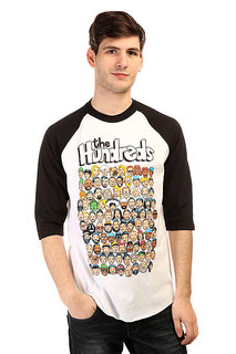 Лонгслив The Hundreds Who s Who Raglan Black/White