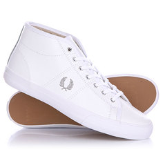 Кеды кроссовки зимние женские Fred Perry Haydon Mid Leather White
