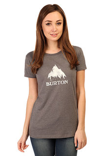 Футболка женская Burton Wb Stmdmtn Ss Rpet Gray Heather
