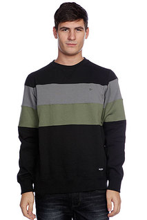 Свитшот Zoo York Striped Crew Black