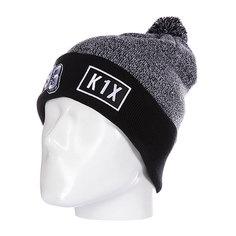 Шапка с помпоном K1X Bommel Beanie Grey/Black