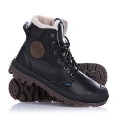 Ботинки зимние женские Palladium Pampa Sport Cuff Black/Dark Gum