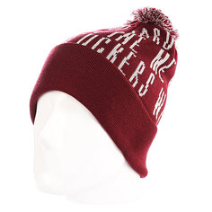 Шапка с помпоном K1X Ball So Hard Bommel Beanie Burgundi