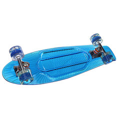 Скейт мини круизер Sunset Wave Complete Blue Deck Blue Wheels 6 x 22 (55.9 см)