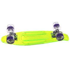 Скейт мини круизер Sunset Alien Complete Green Deck-Blacklght Wheels
