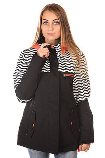 Куртка женская Roxy Jetty Block Jk J Snjt Zig Zag Stripe Anthr