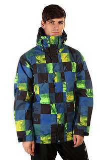 Куртка Quiksilver Mission Print Check Kasper Snow Blue