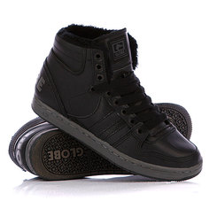 Зимние кеды Globe Destroyer Mid Fur Black/Vintage Black