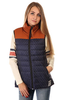 Жилетка женская CLWR Feather Vest Patriot Dot
