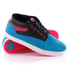 Кеды кроссовки высокие Osiris Chaveta Blue/Black/Pink