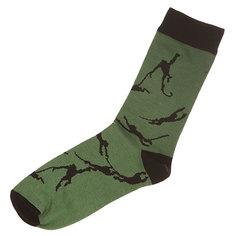 Носки средние Запорожец Обезьяна Green/Black Подарок