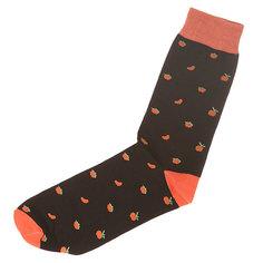 Носки средние Запорожец Апельсин Целый И Дольки Black/Orange Подарок