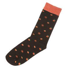 Носки средние Запорожец Апельсин И Снежинки Black/Orange Подарок