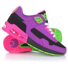 Кеды кроссовки женские Osiris Uprise Black/Purple/Green