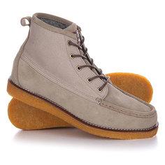 Кеды кроссовки высокие Quiksilver Transom Tan Solid