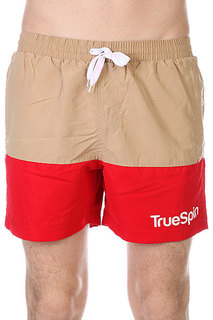 Шорты пляжные TrueSpin Swimming Shorts Splash Two Beige/Red