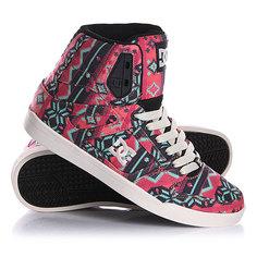 Кеды кроссовки высокие женские DC Rebound Slim Hi Sp Pink/Dark Grey
