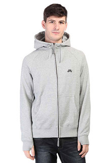 Толстовка сноубордическая Nike SB Everett Graphic Full Zip Hoodie Dark Grey Heather/Black