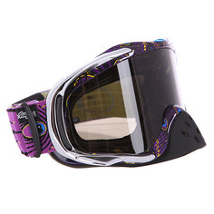 Маска для мотоспорта Oakley Crowbar Mx Tld Discharge Purple Dark Grey