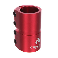 Зажимы Chilli 7000 Scs 4 Bolts Clamp Red Matt