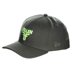 Бейсболка New Era Fallen Insignia Stretch Surp Green/Fluro Yellow