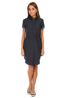 Платье женское Fred Perry Dobby Spot Shirt Dress Blue
