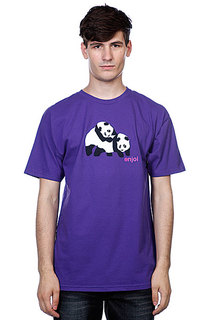 Футболка Enjoi Piggyback Pandas Purple