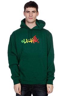 Кенгуру Cliche Handwritten Gradient Pullover Dark Green/Rasta