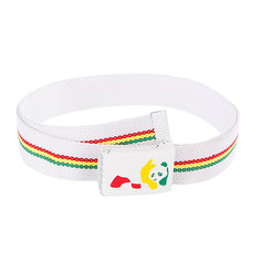 Ремень Enjoi Rasta Panda Web White
