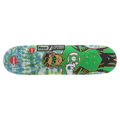 Дека для скейтборда для скейтборда Almost S5 Youness Green Lantern Tiedye R7 Green 31.7 x 8.25 (21 см)