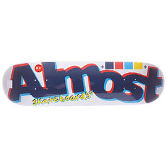 Дека для скейтборда для скейтборда Almost S5 Off Register White 32 x 8.5 (21.6 см)