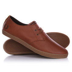 Кеды кроссовки низкие Fred Perry Byron Low Leather Tan