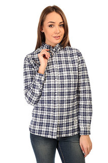 Рубашка утепленная женская Penfield Kemsey Quilted Plaid Long Sleeve Shirt Navy