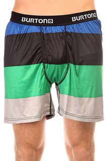 Термобелье (низ) Burton Mb Ltw Boxer 2 Pack Turf Pop Stripe/True Black