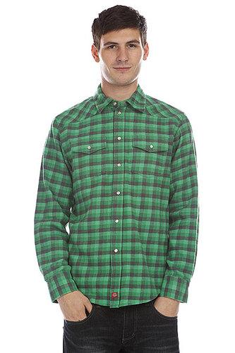 Рубашка в клетку Dickies Wray Ht Charcoal  Emerald
