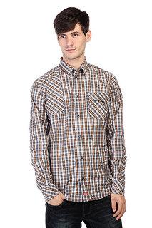 Рубашка в клетку Dickies Warrenton Ls Shirt Brown Duck