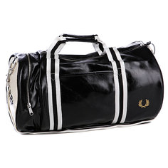 Сумка Fred Perry Classic Barrel Bag Black/Ecru