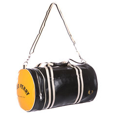 Сумка спортивная Fred Perry Classic Barrel Bag Black/Yellow
