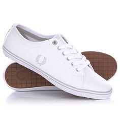 Кеды кроссовки низкие женские Fred Perry Kingston Leather White