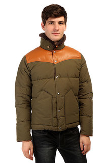 Пуховик Penfield Rockwool Leather Yoke Down Jacke Lichen