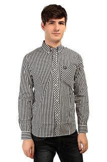 Рубашка в клетку Fred Perry Gingham Shirt Long Sleeve Blue/White