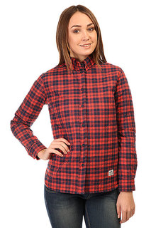 Рубашка утепленная женская Penfield Kemsey Quilted Plaid Long Sleeve Shirt Red