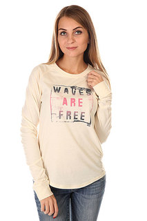 Лонгслив женский Billabong Waves Are Free White Cap
