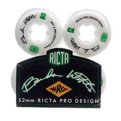 Колеса для скейтборда для скейтборда Ricta Brandon Westgate Pro Nrg White 81B 52 mm
