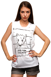 Футболка женская Zoo York Mug Shot Tank White