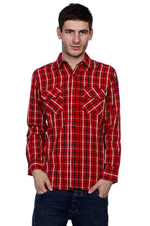 Рубашка в клетку Independent Control Button Up Red/Navy/White