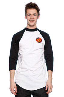 Футболка Santa Cruz Other Dot Raglan White/Black