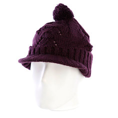 Шапка с помпоном женская Zoo York Lace Knit Cable Hat Potent Purple